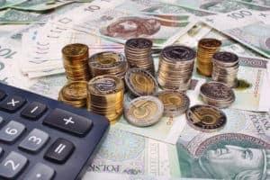 Polish money and calculator